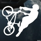 Decal cyclist trick BMX