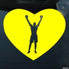 Decal boxer raise hands in heart