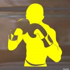Decal boxing man stand