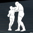 Decal boxing man sparring