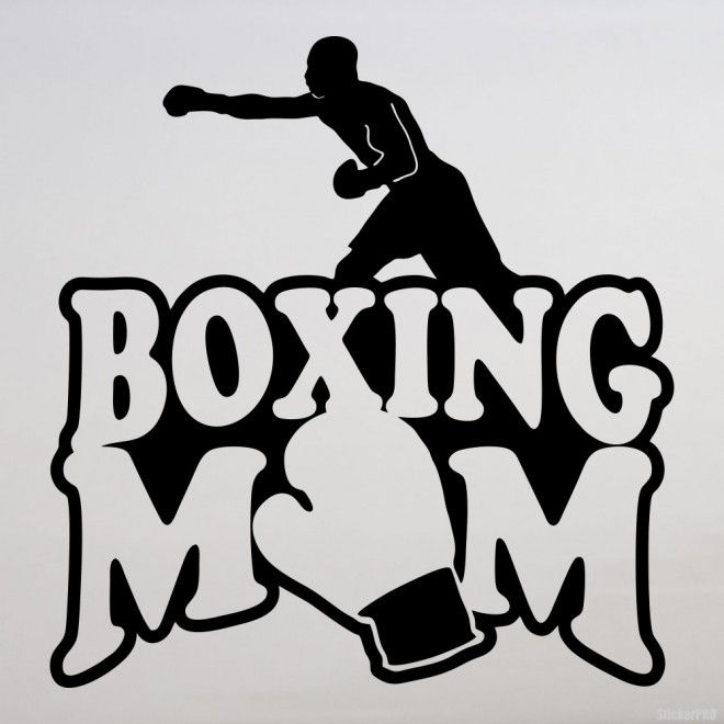 Decal Boxing Mom