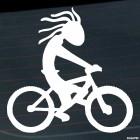 Decal cartoon cyclist