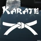 Decal karate belt