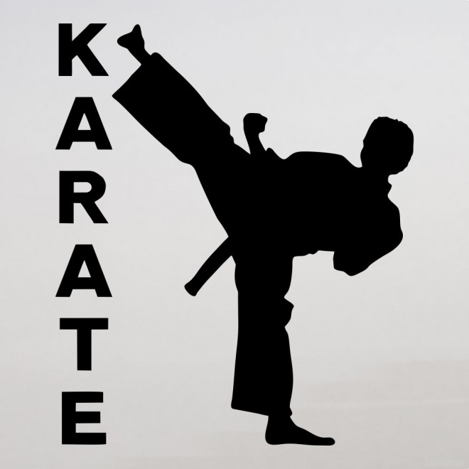 Decal karateka KARATE title
