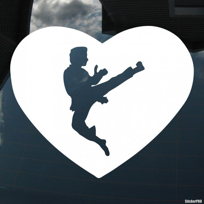 Decal karateka fly in heart