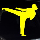 Decal karate girl kick 3