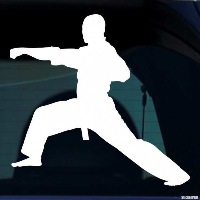 Decal karateka hit by a hand