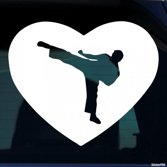 Decal karateka in heart