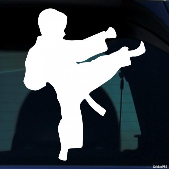 Decal karateka kid kick