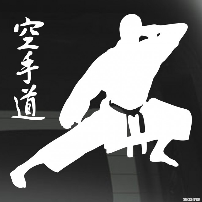 Decal karate characters