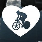 Decal cyclist on roadies in the heart
