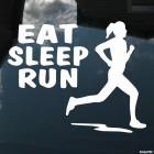 Decal girl runner eat sleep run