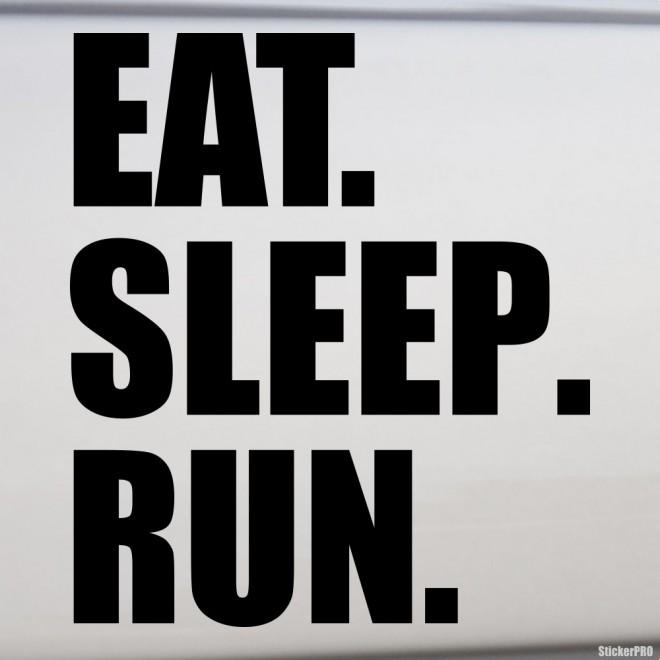 Decal eat sleep run