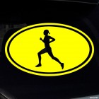 Decal running girl sign