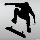 Decal skateboarder trick Flip