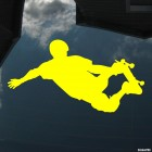 Decal skateboarder stunt Grab