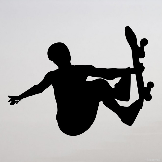 Decal skateboarder doing a stunt Grab