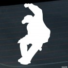 Decal skateboarder jumping