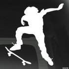 Decal skateboarder doing a stunt Ollie