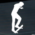 Decal skateboarder doing a stunt Manual