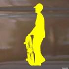 Decal skateboarder standing