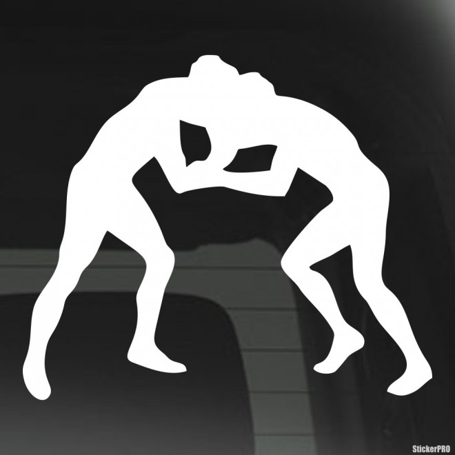 Decal wrestlers sparring