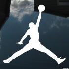 Decal basketball player Michael Jordan jumping