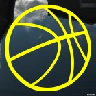 Decal basketball ball 2