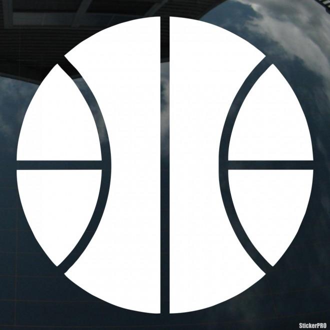 Decal basketball ball