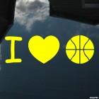 Decal I Love Basketball