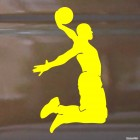 Decal basketball player Dunker Black jumping