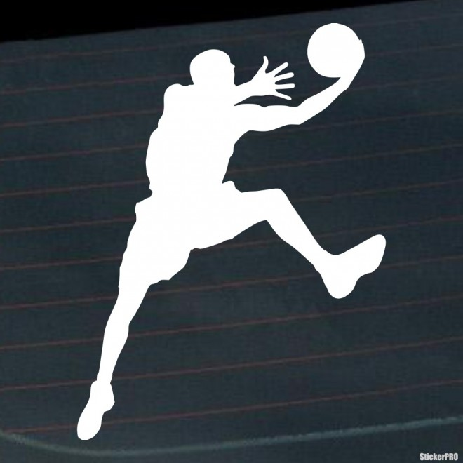 Decal basketball player jumping with a ball