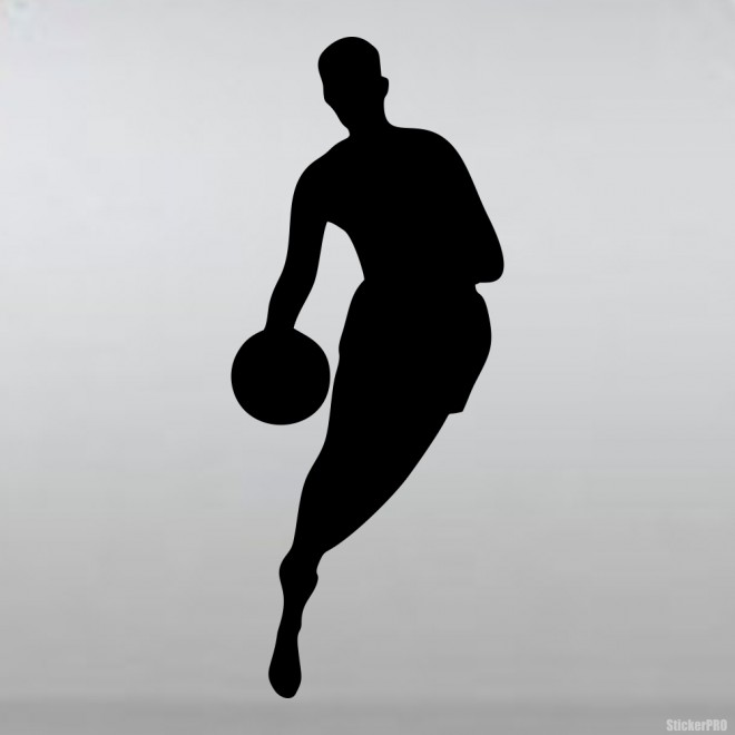 Decal basketball player with ball
