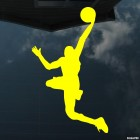 Decal basketball player flying