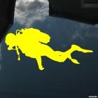 Decal diver Scuba