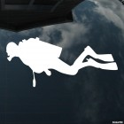 Decal diver plunges