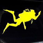 Decal diver waving