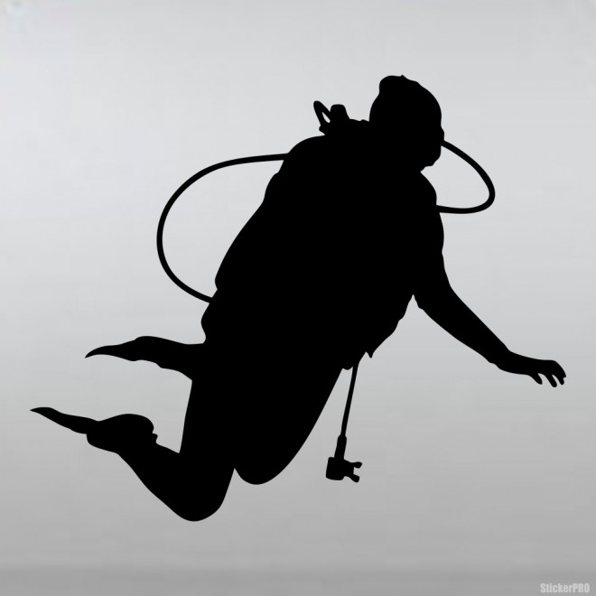 Decal diver neutral buoyancy