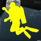 Decal diver photographing