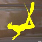 Decal snorkeling swimmer in the water