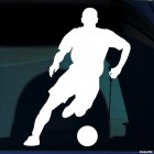 Decal soccer player running with the ball, soccer
