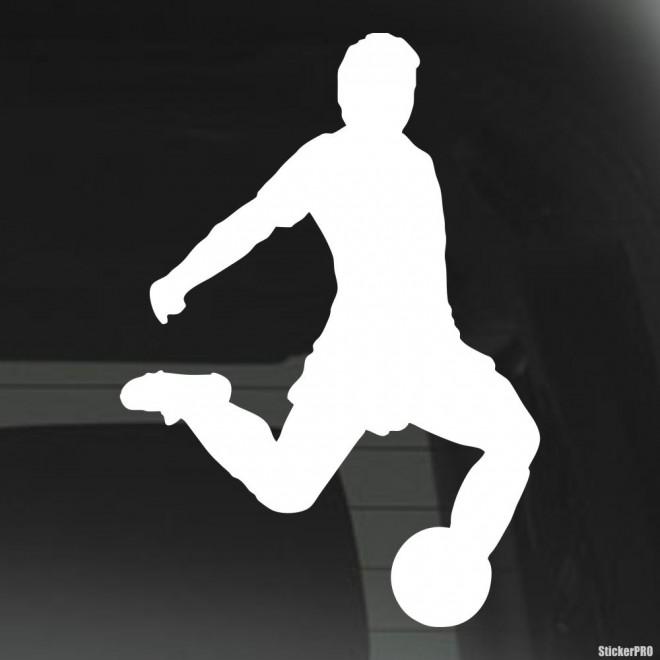 Decal soccer player scores a goal, soccer