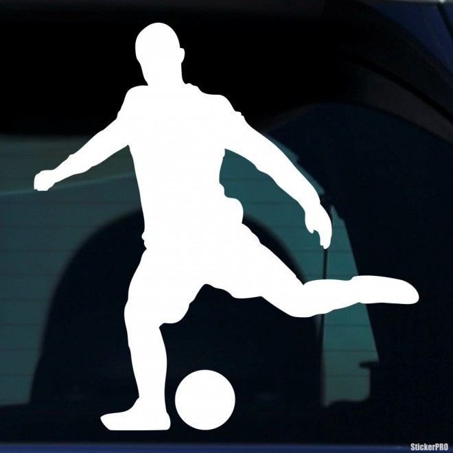 Decal soccer player before hitting, soccer