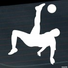 Decal soccer player flying with the ball