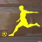 Decal soccer player running, soccer