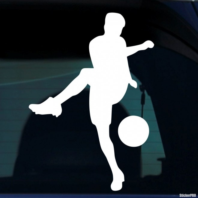 Decal soccer player with the ball pass, soccer