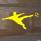 Decal soccer player with the ball, soccer