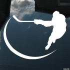 Decal hockey player hit, winter sports