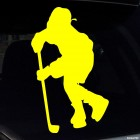 Decal hockey player before the throwing, winter sports