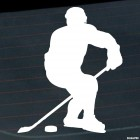 Decal hockey player plays hockey, winter sports